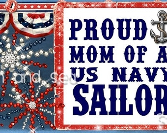 Proud US Navy Mom FaceBook TimeLine graphic Banner instant download