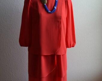Gorgeous Coral/Salamander lightweight Dress Size 10
