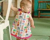 Candy Jars - Pink - Toddler Dress - Designer Fabric - Summer - Birthday Candy Party - Grosgrain Ribbon - KK Children Designs - 3M to 4T