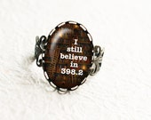I Still Believe in 398.2 Ring, Fairy Tale Ring, Book Lover Gift, Book Ring, Librarian Gift, Statement Ring, Dewey Decimal, R031