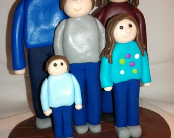 Polymer clay family family of 5