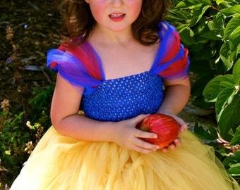 Snow White Tutu Costume sizes 12-18m, 18-24m, 2t, 3t, 4t, 5t