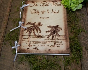 Guest Book, Guest Books, Wedding Guest Book,Beach Wedding, Wedding Guest Books, Personalized Wedding Guest Book, Personalized Album