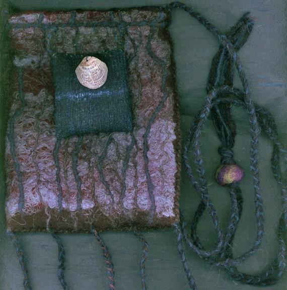 Indigo Sea - wet felted bag