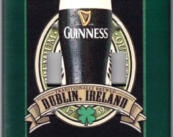 Guinness Irish Beer Brewed in Dublin, Ireland / St. Patrick's Day Switchplate Cover - Double Regular size (451)