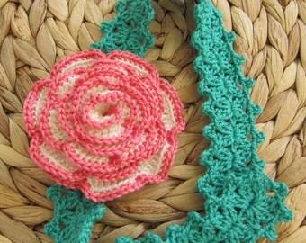Rose Flower Headband Crochet PATTERN-Baby Girl Headband DIY Crafts-Spring Crochet Gift-Instant Download PDF Pattern No.96 by Lyubava Crochet