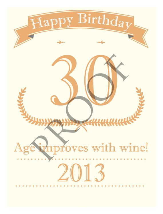 Birthday Anniversary Wine Label Custom & Personalized Available 5 Colors