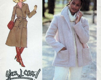 Simplicity 8745, 1970's, Easy to sew, Coat and Jacket, Vintage Sewing Pattern, Size 12, Bust 34