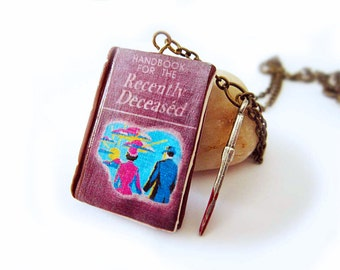Beetlejuice Handbook for the Recently deceased- polymer clay Necklace