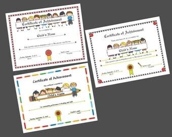 School Certificates - Instant Download