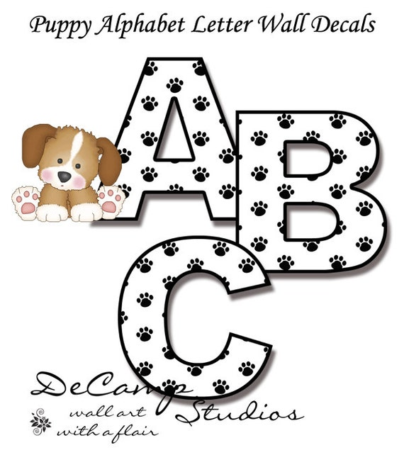 Baby Nursery Art Print Dog Abc Nursery Decor Alphabet Print: Unavailable Listing On Etsy