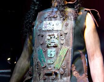 LAURA DIAMOND post apocalyptic mechanic vest