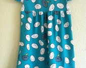 Teal Cranky Clouds Knit Dress 2T