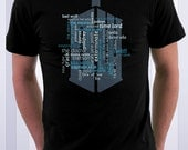 Friends and Enemies Doctor Typography Tshirt Wordle Art 100% cotton shirt Men Women Kids Geek Gift