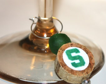 Wine Charms - Michigan State Spartans