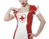 TG MILITARY NURSE Latex Uniform Dress