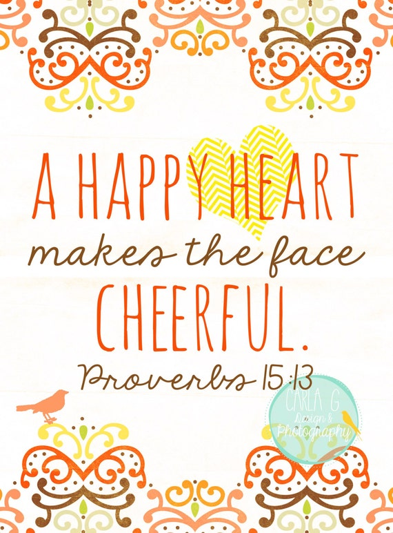 A Happy Heart Makes a Face Cheerful