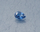 Sapphire: 0.47ct Blue Pear Shape Gemstone, Natural Hand Made Faceted Gem, Loose Precious Corundum Mineral, Cut Crystal Jewelry Supply 10209