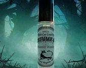 HAUNTED WOODS Perfume Oil - plum, black raspberry, vanilla, textured woods, cotton candy, musk