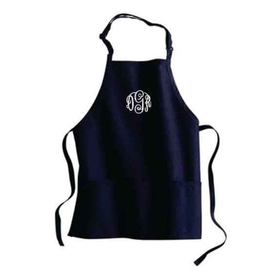 Monogrammed Gifts Apron Personalized Womens Aprons 3 Pockets