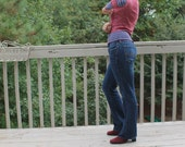 Red and Blue Knit Sweater by Sheridan Creations
