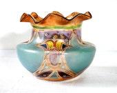 Art Nouveau Hand Blown Glass Vase Antique Art Glass