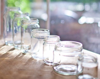Sample pack of glass jars - 7 sizes - Plan your rustic wedding decor needs