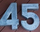 Numbers 45 Four, Five, Cast Aluminum, 54, Cake Mold, Wall Decor