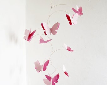 3D Butterfly Mobile, Hanging mobile, Kinetic mobile, Room decor