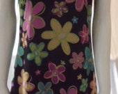 Mod PSYCHEDELIC Flower DRESS Made in USA