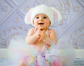 Easter Bunny Hat Rabbit Crochet Set Outfit Newborn Infant Baby Toddler Girl Pastel Photography Prop
