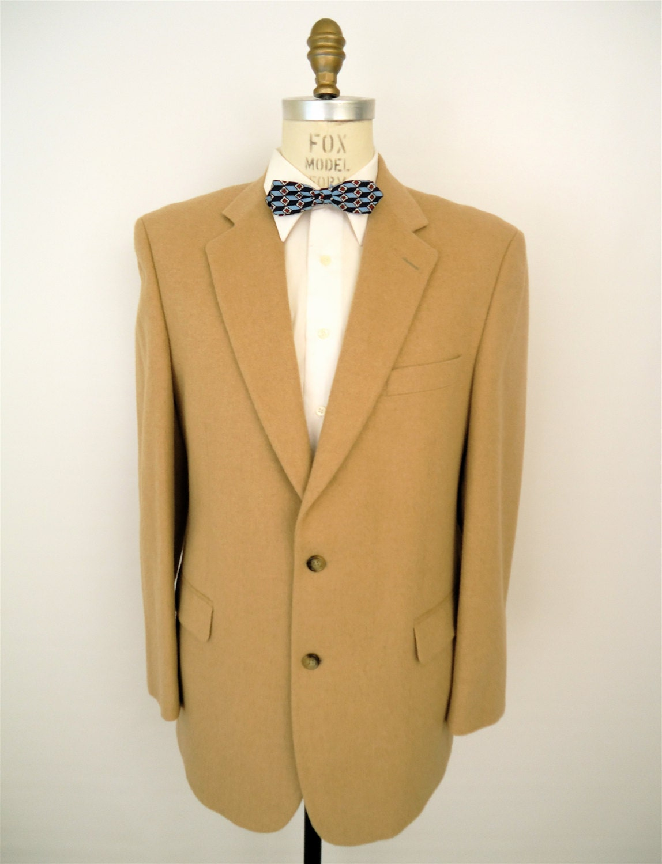 Brooks Brothers Camel Hair Blazer / preppy tan sport coat