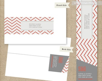 Modern Wrap Around Address Labels | Printable or Printed Labels