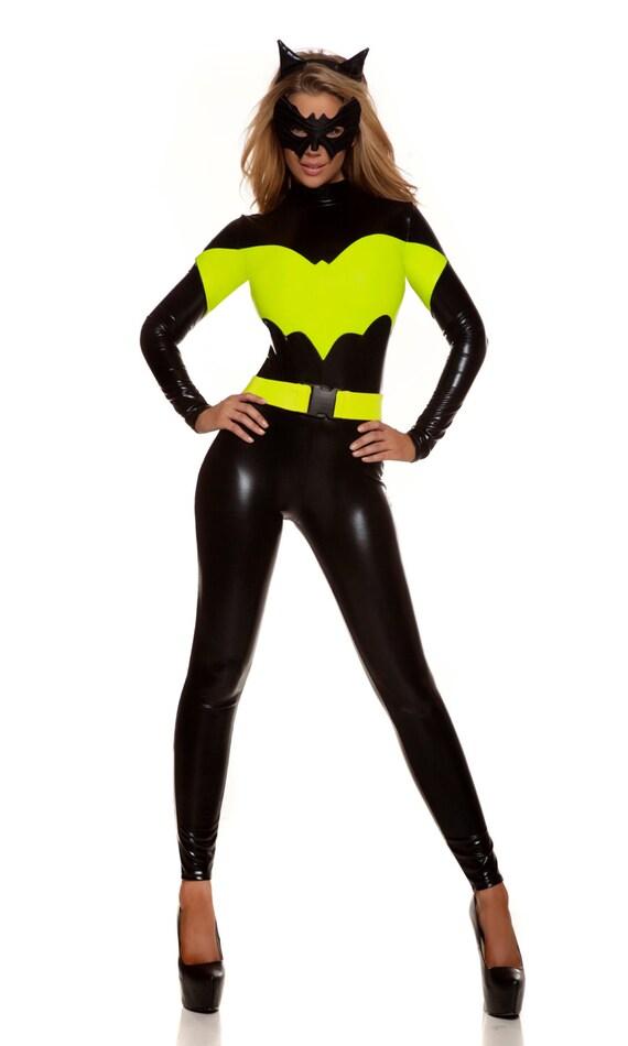 Items Similar To Sexy Bat Superhero Costume Includes Mock -7282