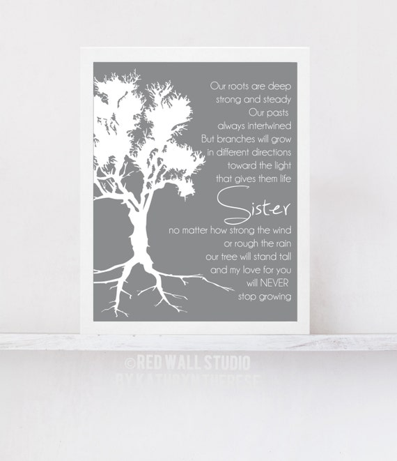 Wedding Gift For Sister Of The Bride : Gift for Sister - Birthday Wedding Gift for Sister of Bride Roots ...