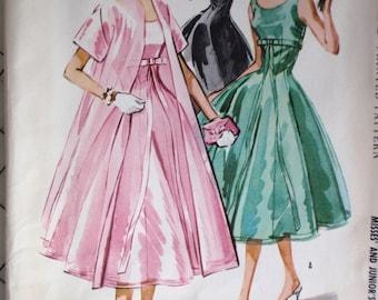 McCalls 3858 Dress 1956 Pattern