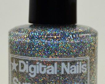 Supernova: an insane sparklefest of holographicglitter nail lacquer by Digital Nails