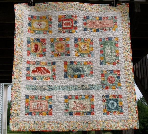 Quilting Patterns Beach Theme : Items similar to Beach/Summer Themed Quilt or Wallhanging on Etsy