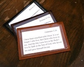 Business card size - Leather Wallet for Scripture Memory