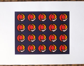 1920s Stylized Roses - limited edition screenprint