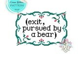 Exit, pursued by a bear. Cross Stitch Pattern. Shakespeare. The Winter's Tale. Digital Download PDF.