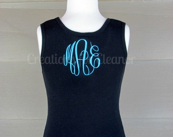 Girls Monogrammed Tank Top, Girls Tank Top, Monogrammed Tank Top, Girls Monogrammed Shirt, Tank Top, Monogrammed Tank Top, Girls Monogram