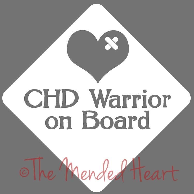 Vinyl Chd Warrior Car Window Decal Chd Chd By Themendedheart