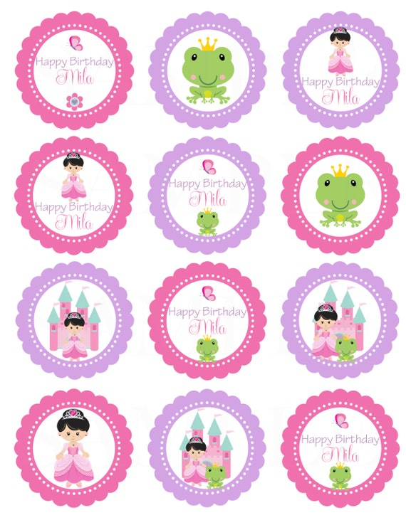 "The Princess and the Frog Birthday Theme-Printable DIY 2.5"" Favor Tag/ gift tag / cupcake toppers/Stickers"