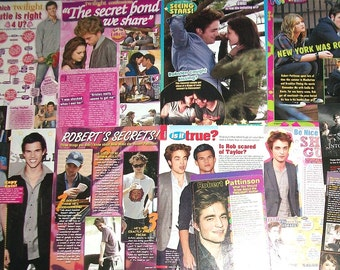 ROBERT PATTINSON ~ The Twilight Saga, Twilight, New Moon, Eclipse, Breaking Dawn, Edward Cullen ~ Color Articles for Scrapbooking