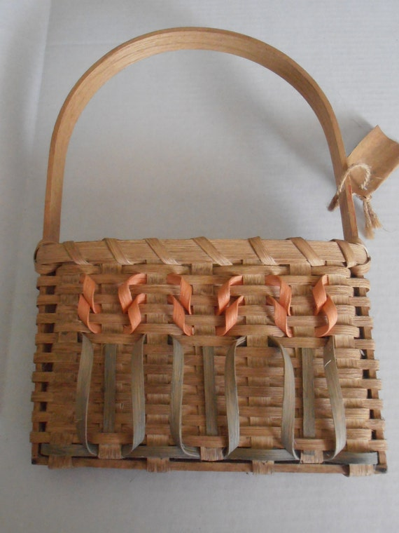 vintage handmade mail or wall basket between door and by tjmccarty. Black Bedroom Furniture Sets. Home Design Ideas