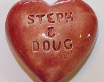 PERSONALIZED LOVE HEART ~ Ceramic ~ Inspirational Art Piece ~ Inner Art Peace