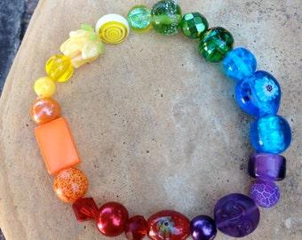 PRIDE Bracelet - LGBT Bracelet  - Rainbow - Made to Order