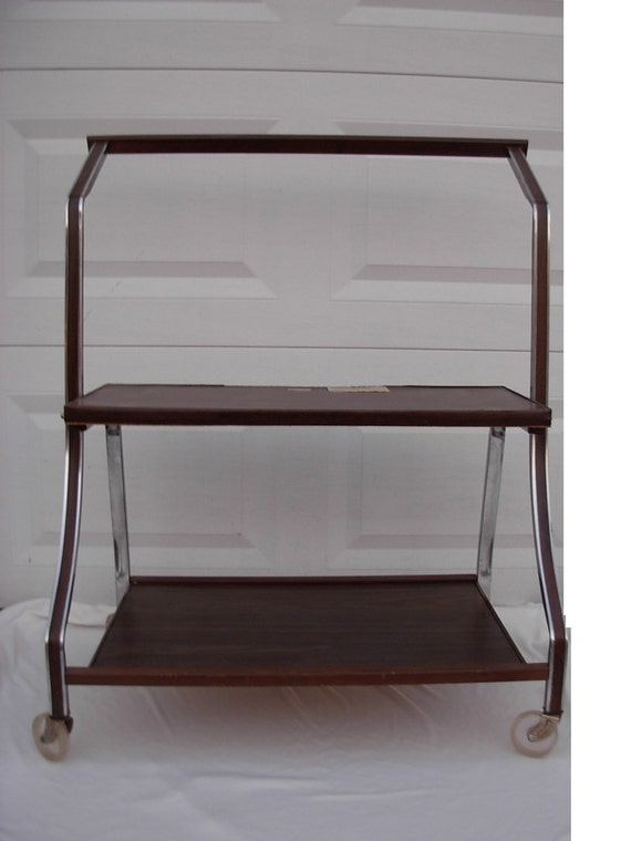 Retro Rolling Tv Stand Cart Display Gusdorf Model Price