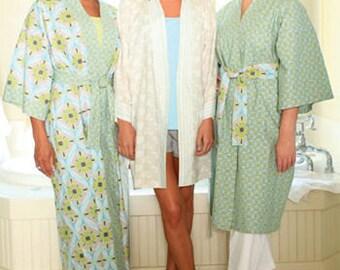 Klassic Kimono Pattern to Make, Sizes XS-2XL, Kimono style robe, Indygo Junction, Women DIY Sewing